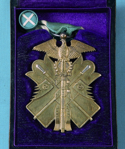 Imperial Japan Japanese WW2 Silver Order GOLDEN KITE 6 Class Army Medal Badge Award w/ Box