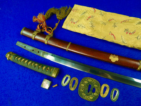 Antique Japanese Japan Katana Tachi Sword w/ Scabbard 16 Century Blad