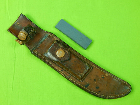Vintage US Heiser Leather Sheath Scabbard Stone for Randall Hunting Fighting Knife