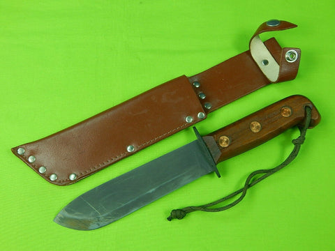 Vintage British English Army Sheffield Jungle Survival Fighting Knife & Sheath