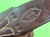 US Custom Made RANDALL Leather Sheath Scabbard & Stone for Huge Fighting Knife