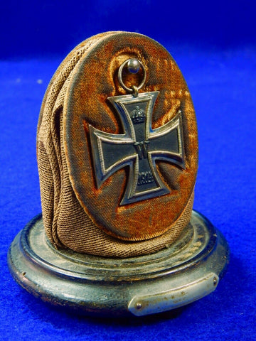 German Germany Antique WW1 Iron & Hindenburg Cross Order Medal Badge