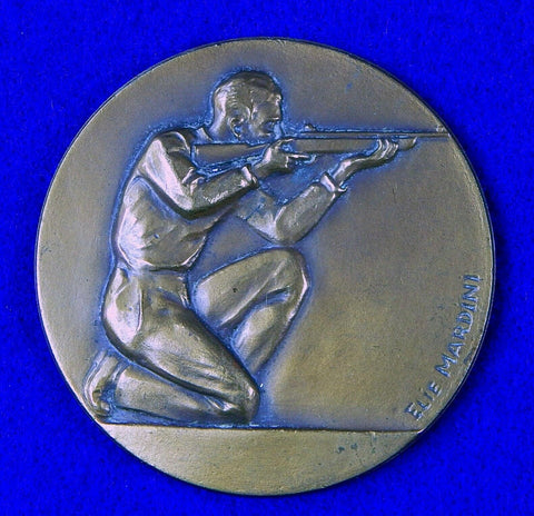 Vintage French France Bronze or Copper Shooter Sport Table Medal