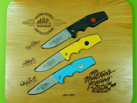Set 3 US Gerber Limited Edition Mac Tools Racing Series Folding Pocket Knife w/ Box
