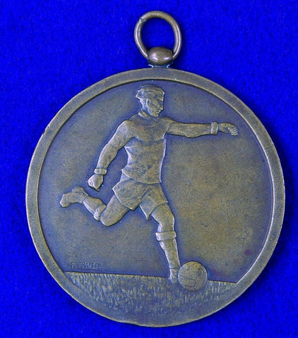 Vintage French France F. Fraisse Bronze Sport Medal Badge
