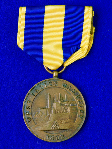 US USA Navy Spanish American War 1898 West Indies Campaign Medal Order Badge