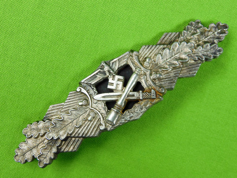 German Germany Nazi WW2 Close Combat Silver Grade Pin Badge Award