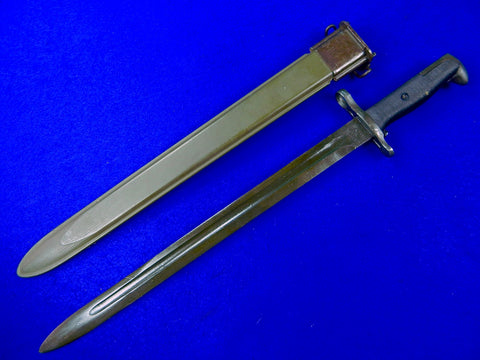 US WW2 Model 1905 Near Mint Bayonet Fighting Knife Knives w/ Scabbard