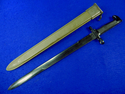 US WW2 Model 1905 Training Bayonet Fighting Knife w/ Scabbard