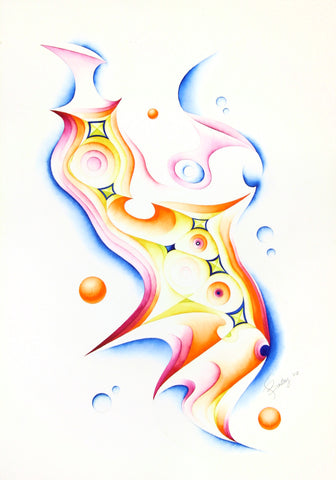 """Untitled"" - 14x20in original watercolor + Gicleé reproductions"