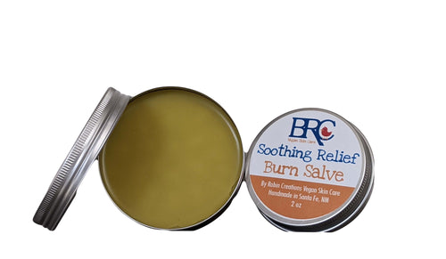 Vegan Soothing Relief Burn Salve - Healing Balm, First Aid Balm, Burn Balm, Dry Skin Relief, Salve, Salves and Balms, Ointment, Zero Waste