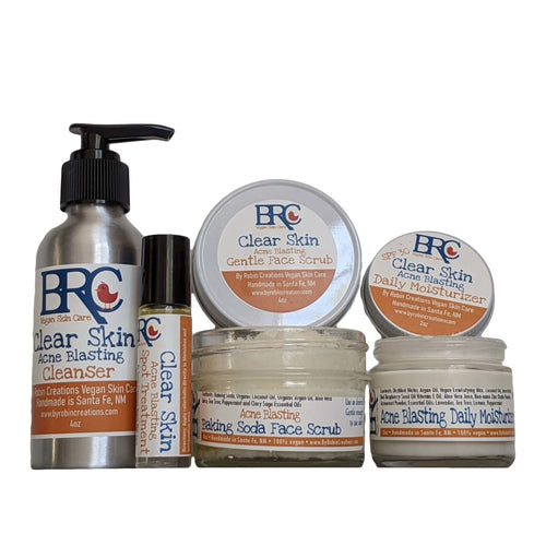 Vegan Clear Skin Acne Blasting Basic Bundle w/ Scrub
