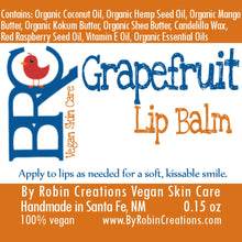 Vegan Natural Lip Balm - 3 Pack