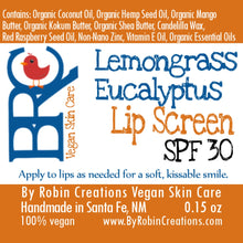 Vegan Natural SPF 30 Lip Screen