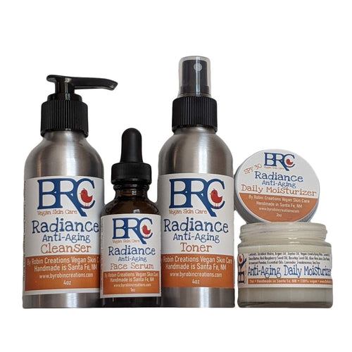 Vegan Radiance Anti-Aging Deluxe Bundle w/ Toner