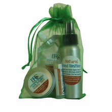 Vegan Survival Kit - Toiletry Bag, Cosmetic Bag, Travel Gift Bag, Hand & Body Lotion, Healing Salve, Lip Balm, Germs, Hand Care, Skincare