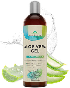 Organic Aloe Vera with Vitamin C and Peppermint Oil Large 16oz