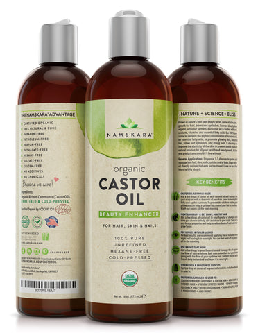 Load image into Gallery viewer, Organic Castor Oil for Hair, Skin & Nails - LARGE 16oz Bottle