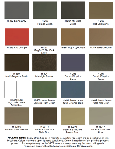 Color Chart Elevated Coatings