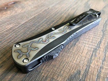 Manticore X Flamed Titanium DLC handle Hand Ground Double Edge Carbon Fiber Button