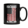 Limited Edition - You Will Never See Refugees From America We Don't Run. We Dust off our guns and Fix it!, 11oz Black Mug  | Evan Mila - EvanMila.com