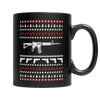 Limited Edition - Gun Christmas, 11oz Black Mug  | Evan Mila - EvanMila.com