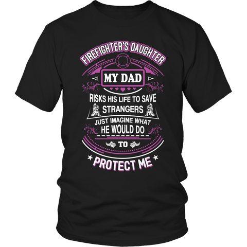 Firefighter's Daughter, Unisex Shirt  | Evan Mila - EvanMila.com