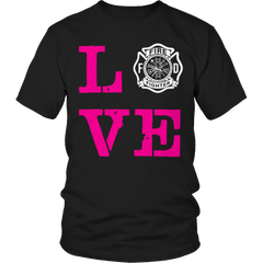 Limited Edition -Firefighter Wife Love, Unisex Shirt  | Evan Mila - EvanMila.com