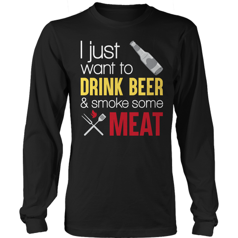Limited Edition - drink beer and smoke meat, Unisex Shirt  | Evan Mila - EvanMila.com