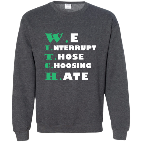 We Interrupt Those Choosing Hate Sweatshirt, Sweatshirts  | Evan Mila - EvanMila.com