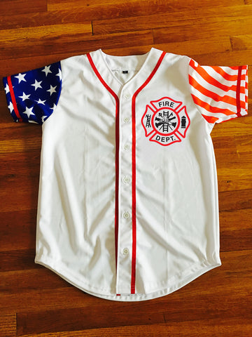 Firefighter Baseball Jersey - Free 2 Day Shipping on Amazon,   | Evan Mila - EvanMila.com