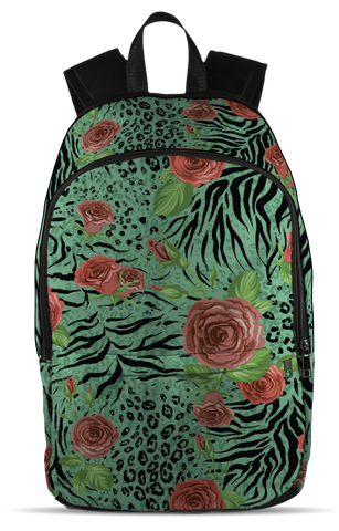Animal Skin And Flowers, All Over Backpack  | Evan Mila - EvanMila.com