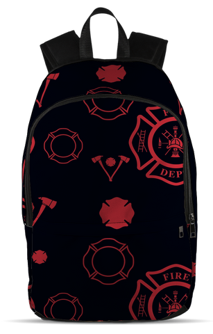 Firefighter - Axe, All Over Backpack  | Evan Mila - EvanMila.com