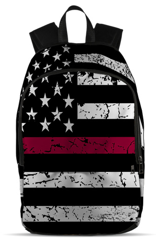 Firefighter Flag, All Over Backpack  | Evan Mila - EvanMila.com