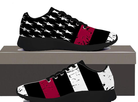 Firefighter Flag, Womens Sneakers  | Evan Mila - EvanMila.com