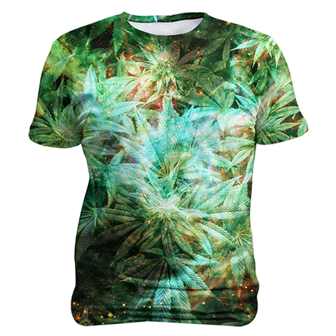 Ganja Galaxy, Sublimation Unisex T-shirts  | Evan Mila - EvanMila.com