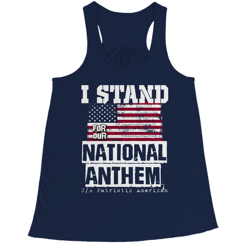 Limited Edition - I Stand for the National Anthem, Bella Flowy Racerback Tank  | Evan Mila - EvanMila.com