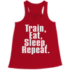 Image of Limited Edition - Train,Eat,Sleep, Repeat, Bella Flowy Racerback Tank  | Evan Mila - EvanMila.com