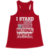 Image of Limited Edition - I Stand for the National Anthem, Bella Flowy Racerback Tank  | Evan Mila - EvanMila.com