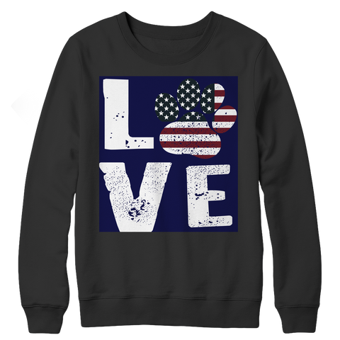 Limited Edition - Love Dog, Crewneck Fleece  | Evan Mila - EvanMila.com