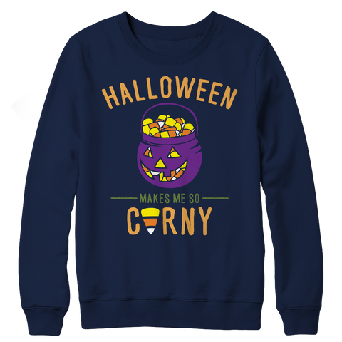 Limited Edition - Halloween Makes Me So Corny ( version 1), Crewneck Fleece  | Evan Mila - EvanMila.com