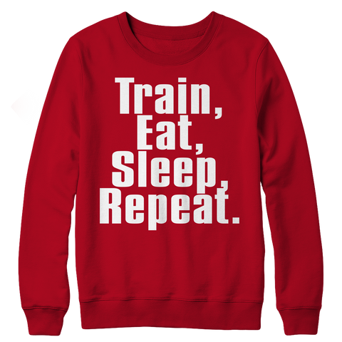 Limited Edition - Train,Eat,Sleep, Repeat, Crewneck Fleece  | Evan Mila - EvanMila.com