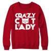 Image of Limited Edition - Crazy Cat Lady (Red), Crewneck Fleece  | Evan Mila - EvanMila.com