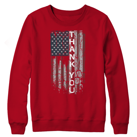 Limited Edition - Thank You Flag, Crewneck Fleece  | Evan Mila - EvanMila.com
