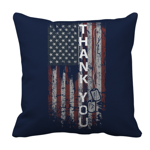 Limited Edition - Thank You Flag, Pillow Cases  | Evan Mila - EvanMila.com