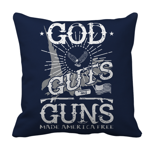 Limited Edition - God Guts Guns, Pillow Cases  | Evan Mila - EvanMila.com