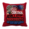 Limited Edition -Gun Control Won't Stop Terrorists, Pillow Cases  | Evan Mila - EvanMila.com