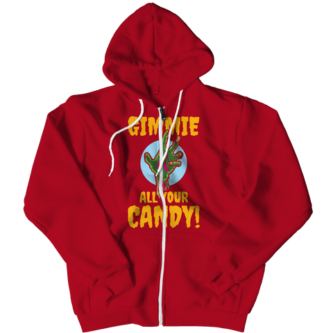 Limited Edition - Gimme All Your Candy!, Zipper Hoodie  | Evan Mila - EvanMila.com