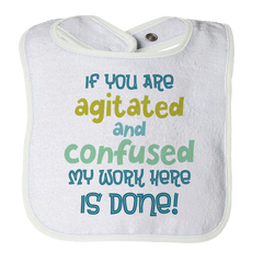 Agitated And Confused - 1, Bibs  | Evan Mila - EvanMila.com