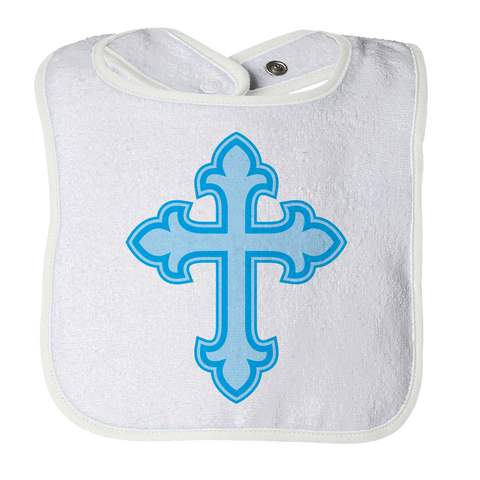 Cross Christening - Boy, Bibs  | Evan Mila - EvanMila.com
